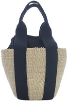 Muun Oval Straw Bag W/cotton Inside