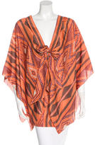 Alexis Silk Abstract Print Tunic