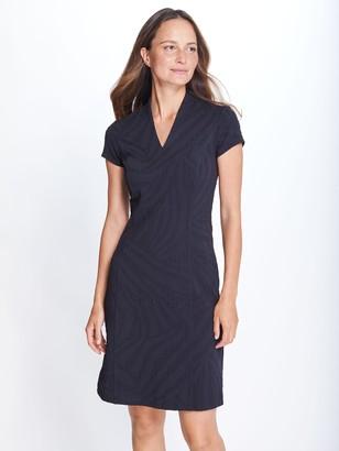 J.Mclaughlin Ivana Cap Sleeve Dress in Zebra Jacquard