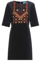 MiH Jeans Velvet Embroidered Cotton Dress