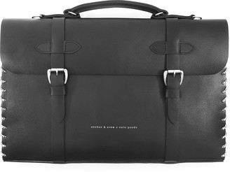 Anchor & Crew Graphite Black Rufford Leather & Rope Briefcase Large