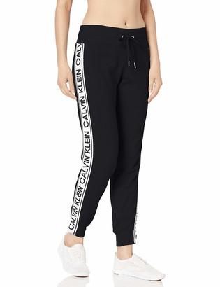Calvin Klein Women's Vintage Logo Tape Rib Cuff Jogger Pant