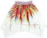 Junior Gaultier Printed Crepe High-Low Skirt
