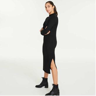 Joe Fresh Women's Mock Neck Dress, JF Black (Size S)