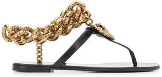 Dolce & Gabbana chain detail T-bar flat sandals