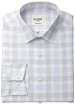Ben Sherman Men's Check Shirt with Spread Collar-Blue, Blue/Navy, .9714285714286