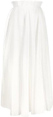 Zimmermann Burnout Dot Pleated Skirt