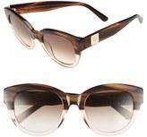 MCM Women's 53Mm Cat Eye Sunglasses - Black/ Grey