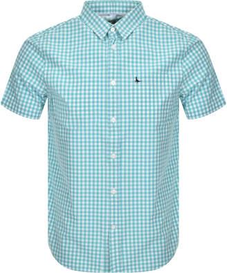 Jack Wills Short Sleeved Gingham Shirt Blue