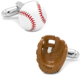 Cufflinks Inc. Baseball & Glove Cuff Links