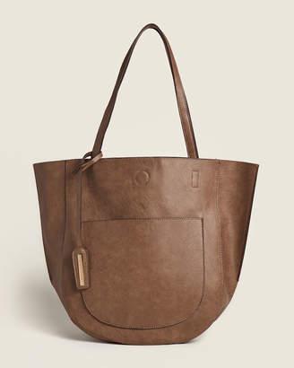 Street Level Brown & Leopard Reversible Shoulder Bag