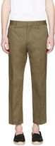 Marc Jacobs Green Pleated Trousers