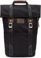 Master-piece Co Black Two Buckles Backpack