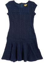 Nicole Miller Girls 7-16 Cable-Knit Drop Waist Dress