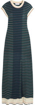 Sonia Rykiel Striped Cotton-blend Maxi Dress - Blue