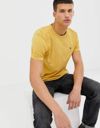 Abercrombie & Fitch icon logo t-shirt in yellow
