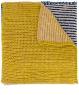 Humanoid chunky knit scarf