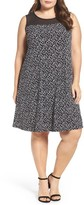 Vince Camuto Plus Size Women's Dotted Harmony Shift Dress
