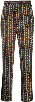 Koché Floral Stripe Print Trousers