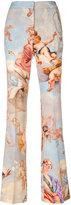 Moschino Fresco print flared trousers - women - Viscose/Wool - 40