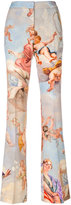 Moschino Fresco print flared trousers