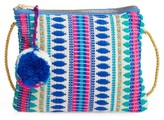 Capelli of New York Girl's Tapestry Crossbody Bag - Blue