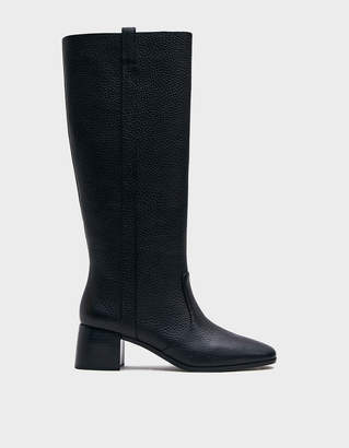 Loeffler Randall Women's Ryan Tall Riding Boot in Black, Size 6 | Leather