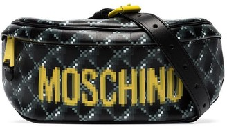 Moschino Pixel Logo Print Belt Bag