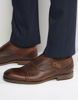 Selected Bolton Leather Monk Shoes