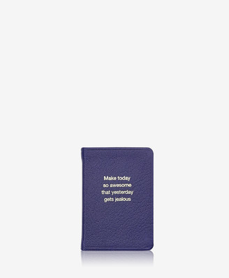 GiGi New York Awesome - Mini Book, Indigo Goatskin Leather