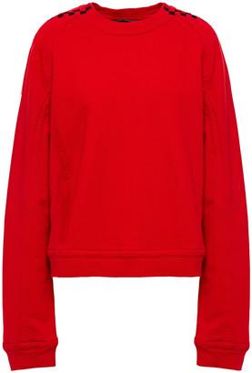 Haider Ackermann Jacquard-trimmed French Cotton-terry Sweatshirt