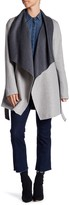 Soia & Kyo Double Faced Wool Blend Wrap Jacket