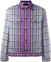 J.W.Anderson degradé plaid jacket - men - Cotton/Calf Leather/Polyamide - 46