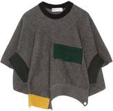 Toga Ribbed Wool Poncho - Dark gray