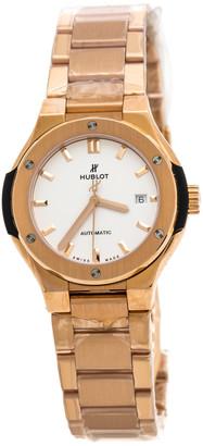 Hublot Silver 18K Rose Gold Classic Fusion 585.OX.2610.OX Women's Wristwatch 33 mm