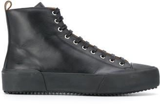 Jil Sander High-Top Leather Sneakers