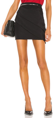 RtA Lizzie Multi Zip Skirt