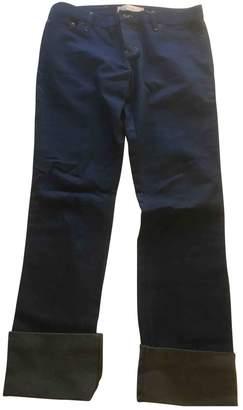 Luella Blue Cotton Trousers for Women