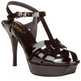 Saint Laurent Patent Tribute Sandals 100