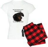 CafePress - God Created Dachshunds - Womens Novelty Cotton Pajama Set, Comfortable PJ Sleepwear