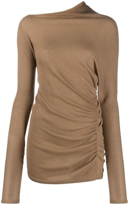 Agnona Asymmetric Draped Sweater