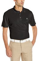 Izod Men's Short Sleeve Pieced Jacquard Golf Polo
