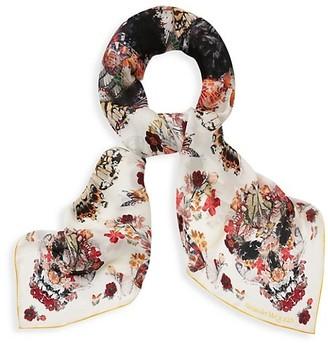 Alexander McQueen Botanical Paisley Silk Scarf