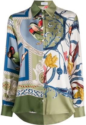 Salvatore Ferragamo Elisabeth pattern print shirt