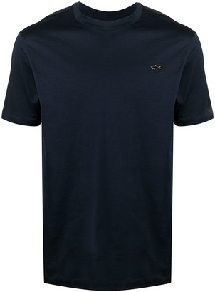 Paul & Shark logo-embroidered T-shirt