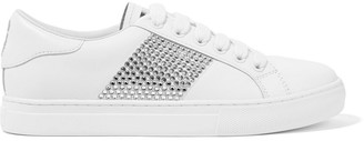 Marc Jacobs Crystal-embellished Leather Sneakers
