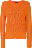Unconditional mesh knit jumper