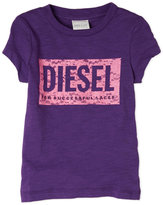 Diesel Toddler Girls) Embroidered Logo Tee