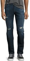 7 For All Mankind Paxtyn Distressed Skinny Jeans, Phoenix (Medium Blue)