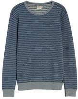Faherty Men's Brand Stripe Crewneck Sweatshirt
